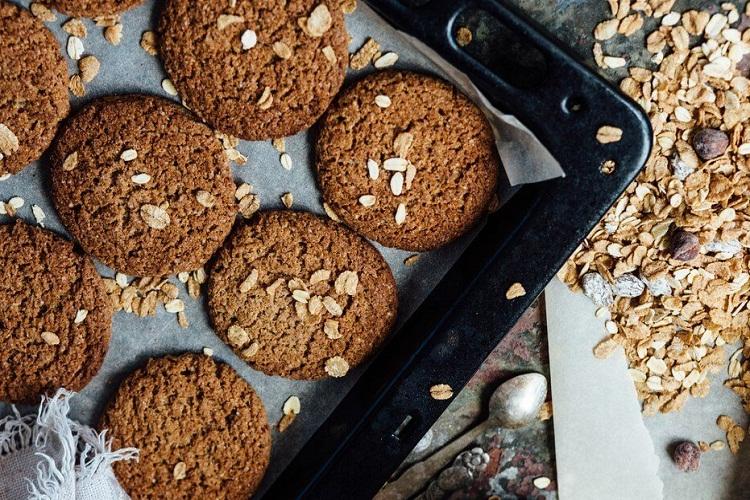 Fabulosas galletas de avena sin azúcar y sin harina de trigo