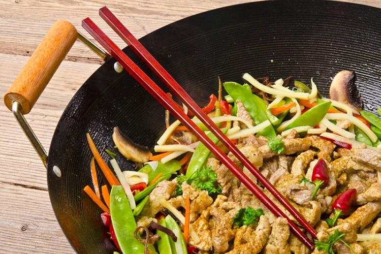 Wok de ternera y verduritas especial gastronomía asiática